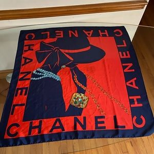 CHANEL Accessories - 💎💎CHANEL  Scarf Jewelry Accessory Ornament Navy.
